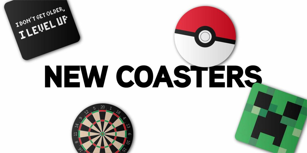 New Coasters Gaming Displays Blog Banner