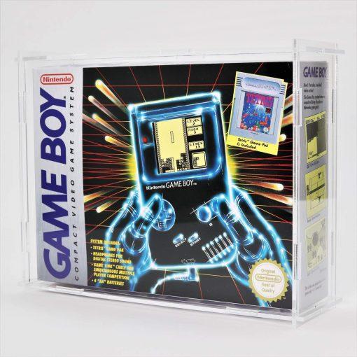 Clear Acrylic Nintendo Game Boy Original Boxed Console Display Case