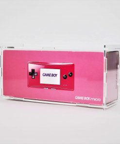 Clear Acrylic Nintendo Game Boy Micro Boxed Console Display Case