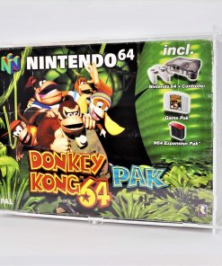 Clear Acrylic Nintendo 64 Boxed Console Display Case