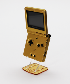 Nintendo Game Boy Advance SP Acrylic Handheld Console Display Stand Gold Mirror