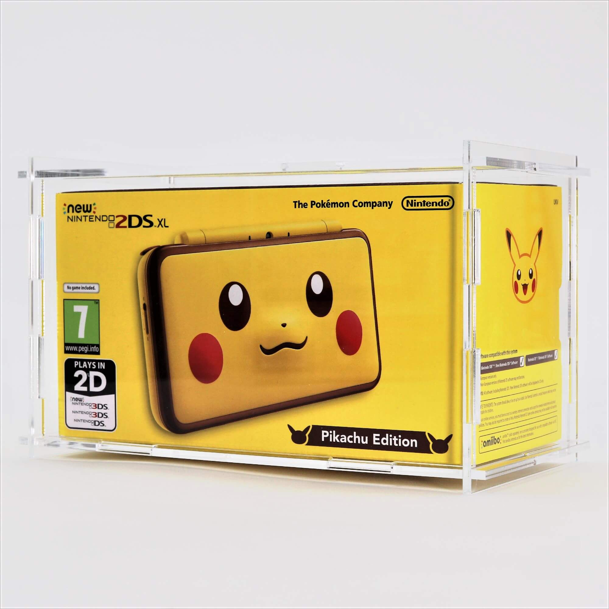 Clear Acrylic NEW Nintendo 2DS XL Boxed Console Display Case