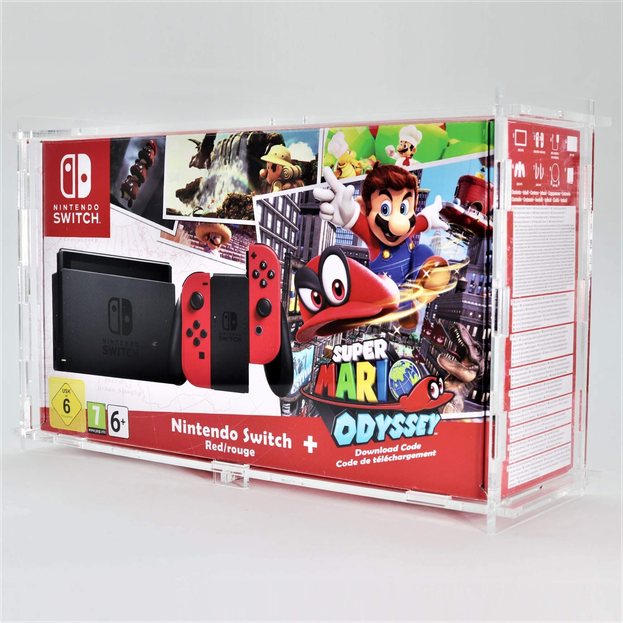 Clear Acrylic Nintendo Switch Boxed Console Display Case