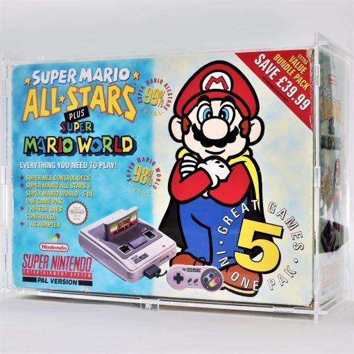 Clear Acrylic Super Nintendo Entertainment System SNES Big Box Console Display Case