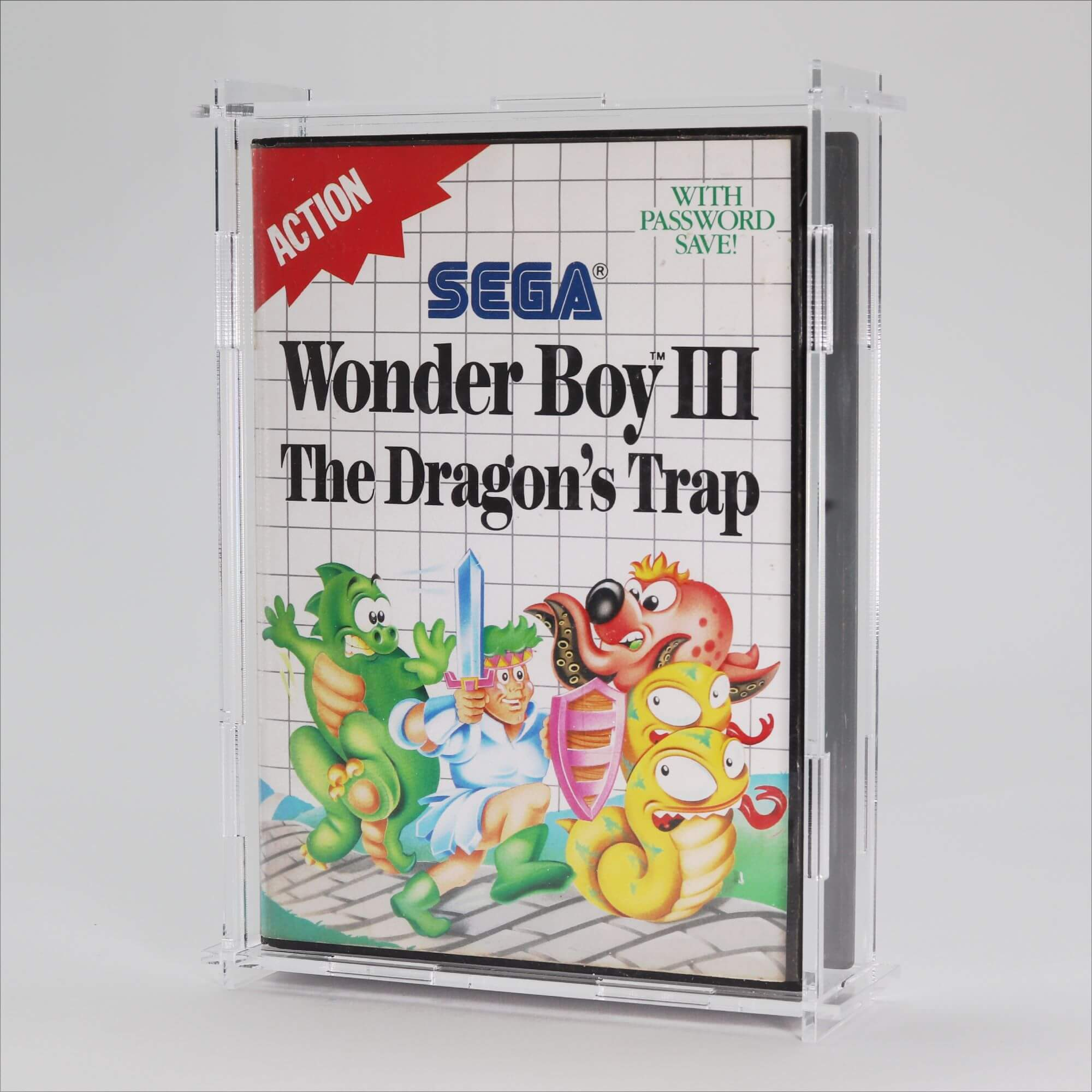 Clear Acrylic Sega Master System Game Display Case
