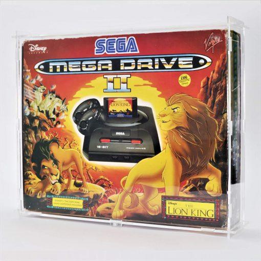 Clear Acrylic Sega Mega Drive II Boxed Console Display Case