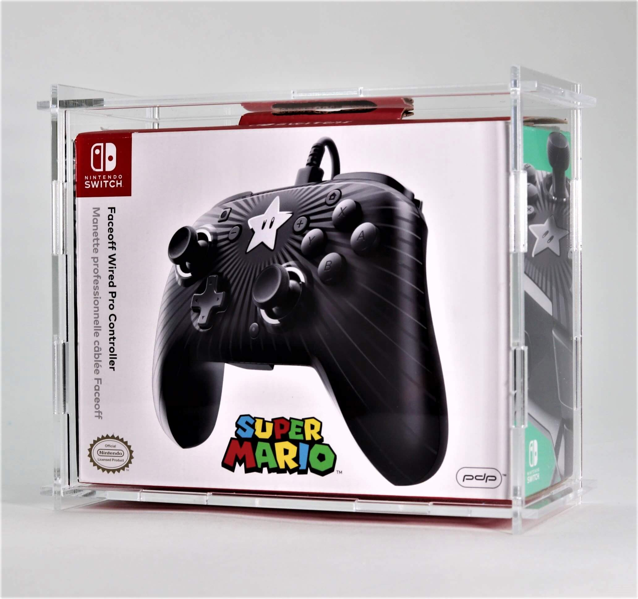 Clear Acrylic Nintendo Switch Boxed Pro Controller Display Case PDP