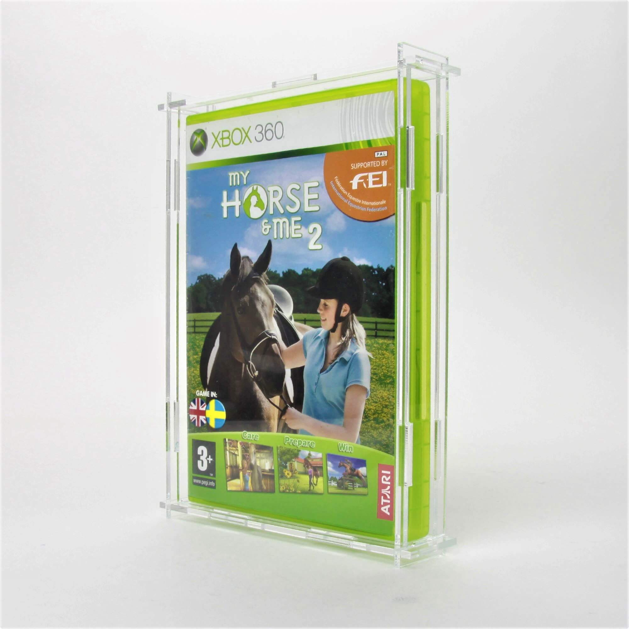 Clear Acrylic Microsoft Xbox 360 Game Display Case