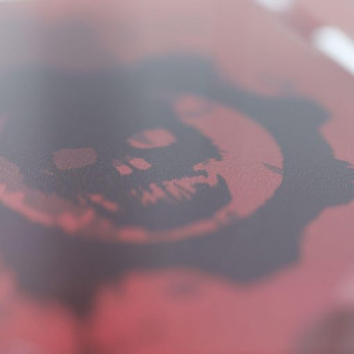 Close up of the Gears of War Crimson Omen Printed Controller Stand