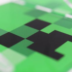 Close up of the Minecraft Creeper Xbox One Printed Controller Stand