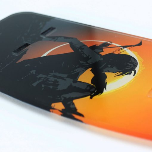 Close up of the Shadow of the Tomb Raider Printed Controller Stand