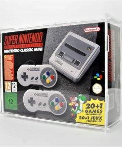 Photo of a nintendo SNES Mini Boxed Console Display Case