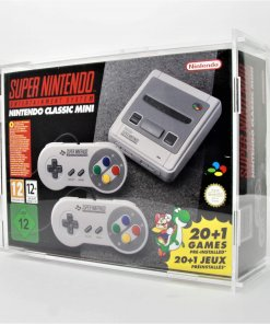 Clear Acrylic Nintendo SNES Mini Boxed Console Display Case