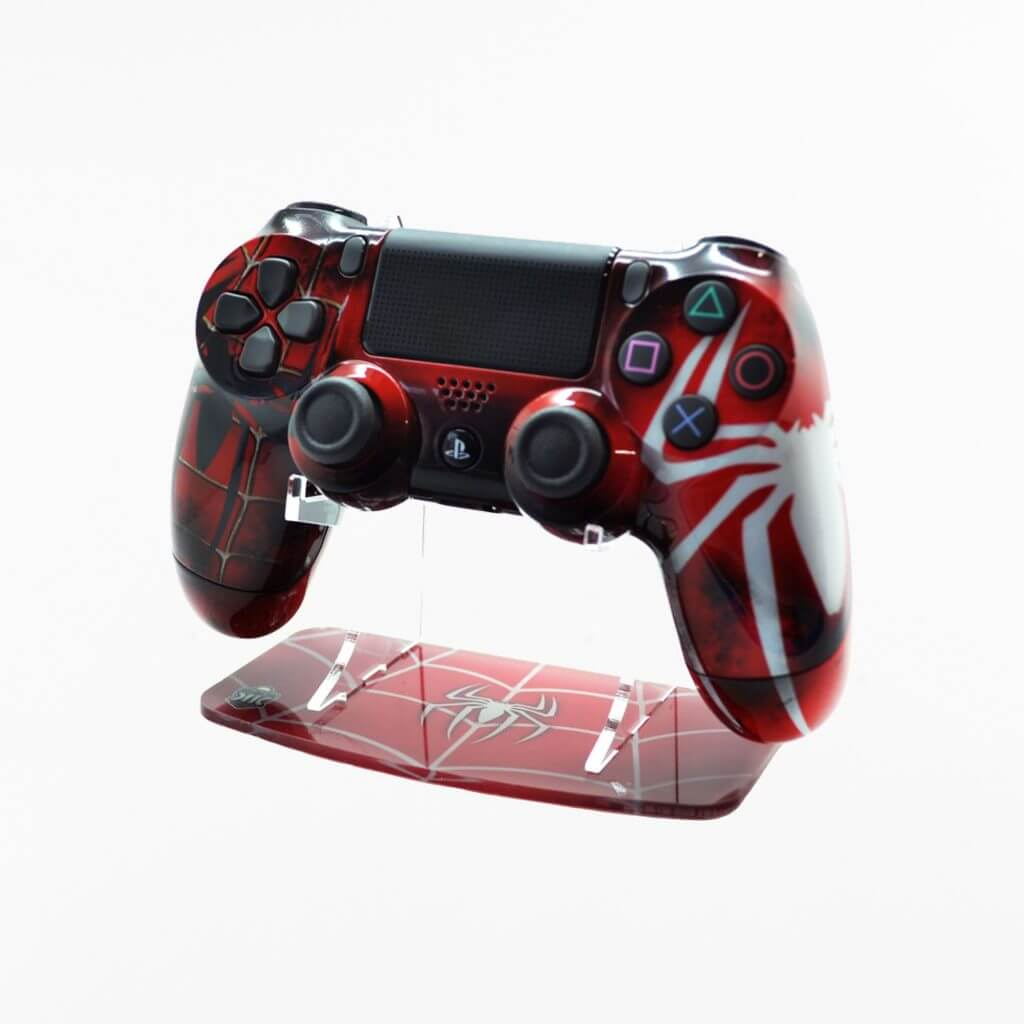 "Spider Man themed ""KK Webslinger"" Printed PlayStation 4 Controller Stand to match Kustom Kontrollers bespoke pads"