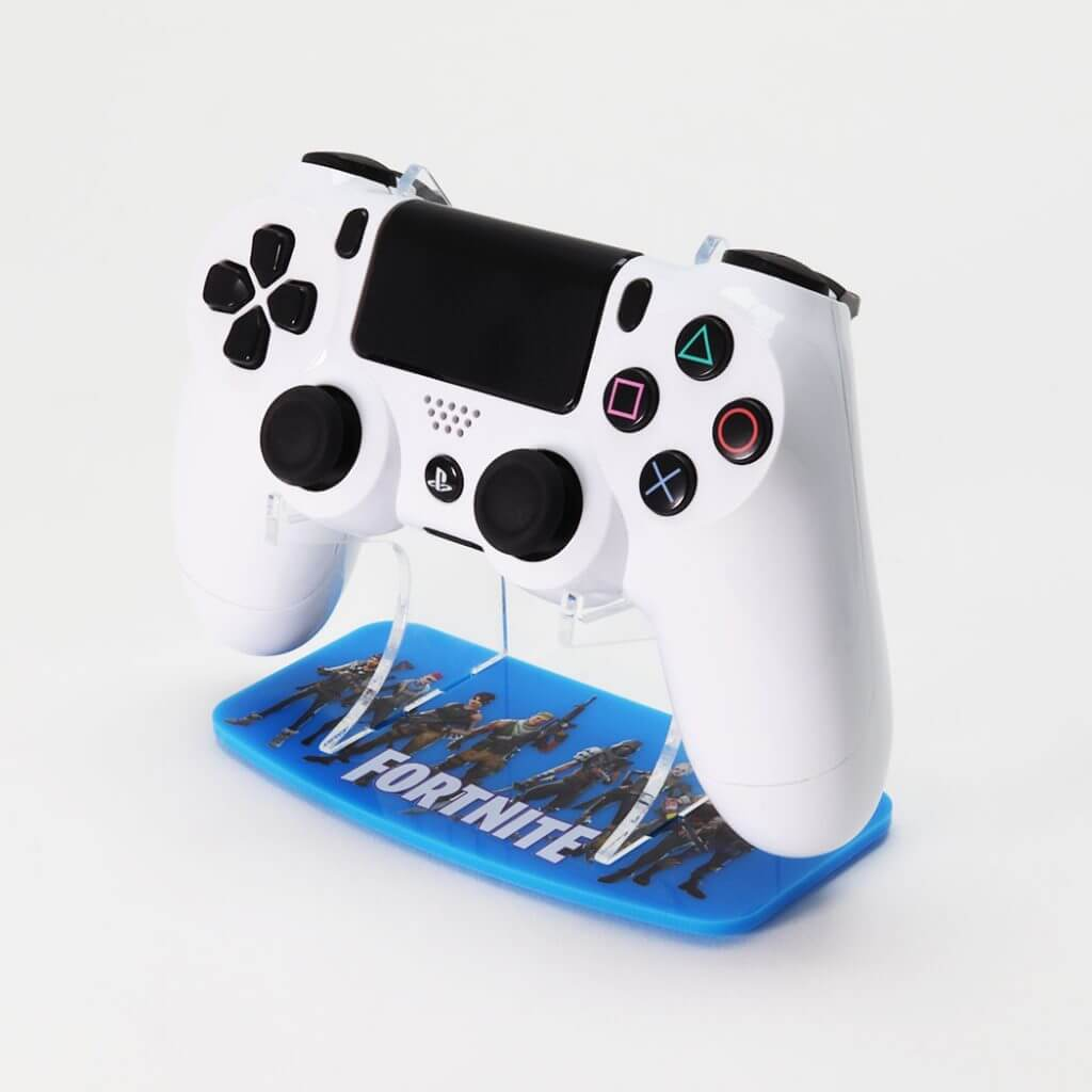 Fortnite PS4 Printed Controller Stand in blue