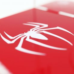 Close up of the Spider Man PlayStation 4 Printed Controller Stand
