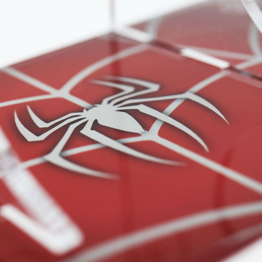 """Spider Man themed """"Webslinger"""" Printed PS4 Controller Stand to match Kustom Kontrollers bespoke pads"""