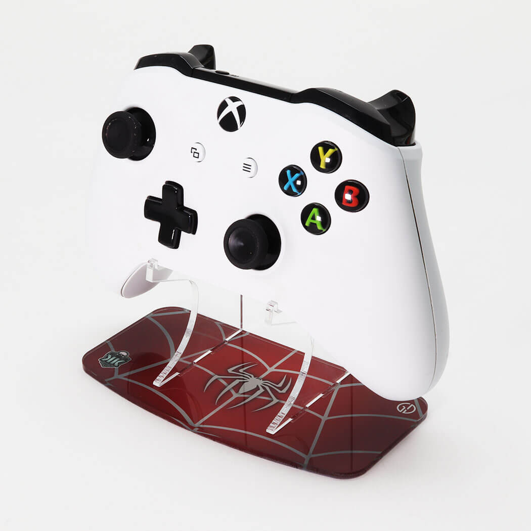 "Spider-Man ""Webslinger"" Printed Xbox One Controller Stand to match Kustom Kontrollers bespoke pads"