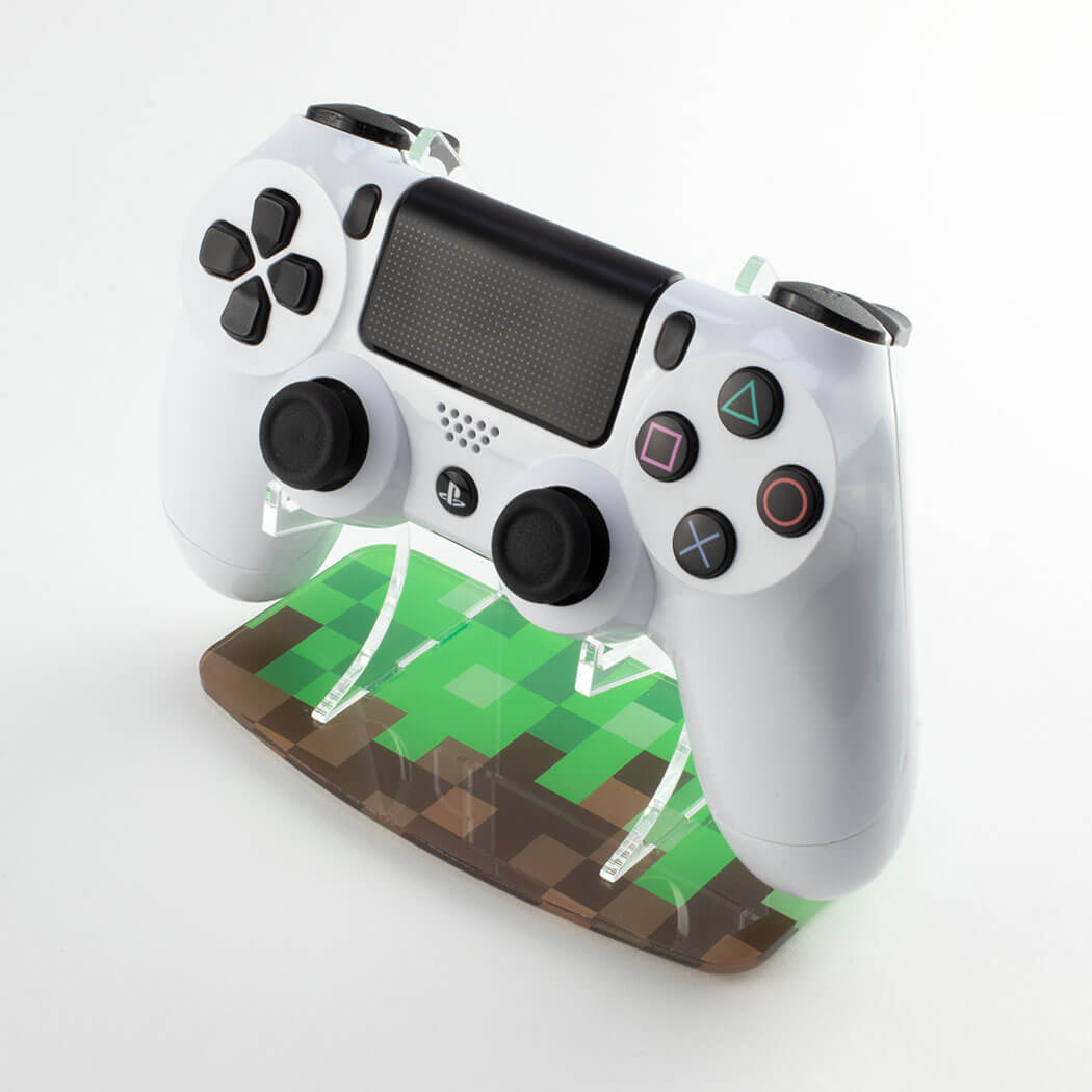 Minecraft PlayStation 4 printed controller stand