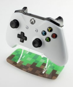 Minecraft themed printed controller stand for Xbox One
