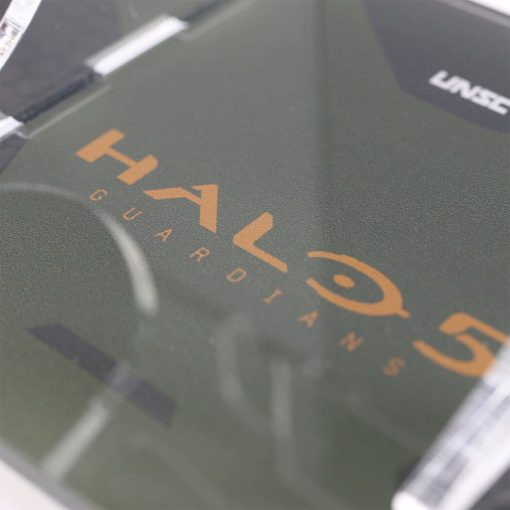 Close up of the printed controller stand for the Halo5 Guardians The Master Chief Xbox One Controller