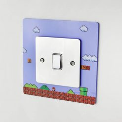 Super Mario Bros themed acrylic light switch surround