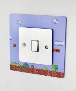 Super Mario Bros themed acrylic light switch surround