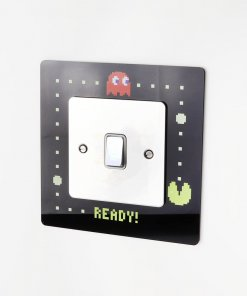 Pac-Man themed acrylic light switch surround
