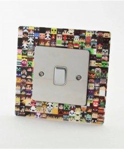 Minecraft themed acrylic light switch surround
