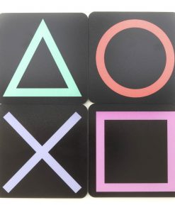 PlayStation Symbol Buttons Printed Acrylic Gaming Coasters