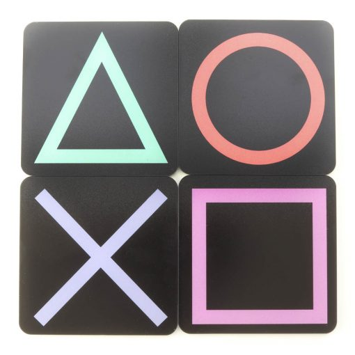 PlayStation Symbol Buttons Printed Acrylic Gaming Coasters