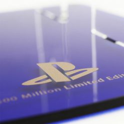 Gaming Displays PS4 500 Million Limited Edition Controller and headset stand close up