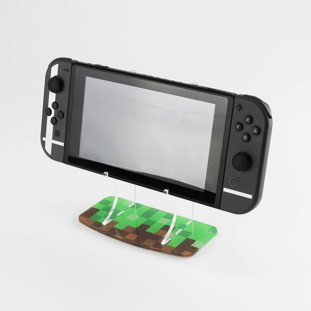 Minecraft themed Nintendo Switch Console printed display stand