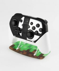 Minecraft themed Nintendo Switch Pro Controller printed display stand