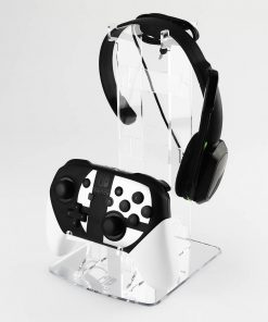 Switch Pro Controller Etched Mirror Dual Controller & Headset Stand