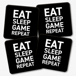 Eat Sleep Game Repeat Coaster