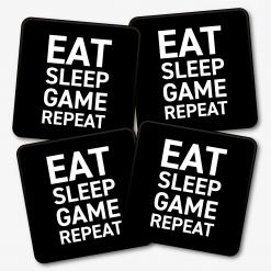 Eat Sleep Game Repeat Coaster