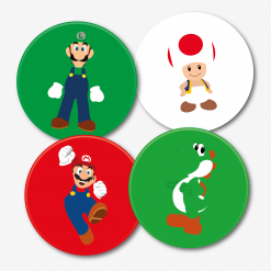 Super Mario Bros Gaming Coasters