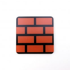 Super Mario Brick Block Printed Acrylic Gaming Coaster