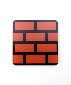 Super Mario Brick Block Printed Acrylic Gaming Coaster