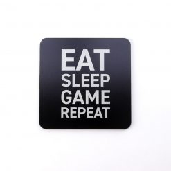 Eat Sleep Game Repeat Printed Acrylic Gaming Coaster