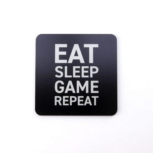 Eat Sleep Game Repeat Printed Acrylic Gaming Coaster