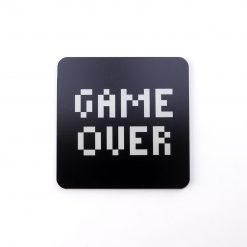 Game Over Printed Acrylic Coaster