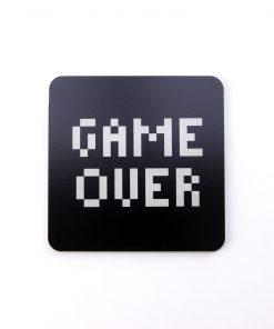 Game Over Printed Acrylic Coaster