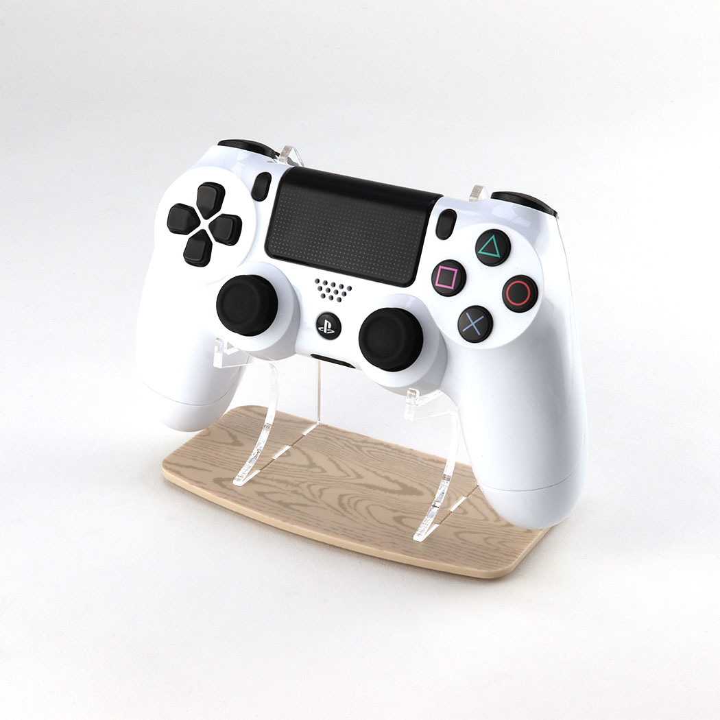 Light Wood Effect PlayStation 4 Printed Acrylic Controller Display Stand
