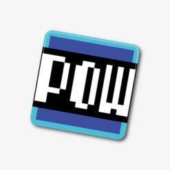 Mario Pow Block Single Coaster