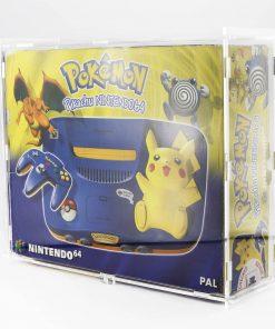 Pikachu Nintendo 64 Boxed Console Acrylic Display Case