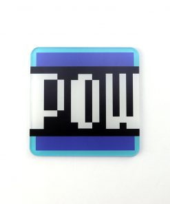 Super Mario Pow Block Printed Acrylic Gaming Coaster