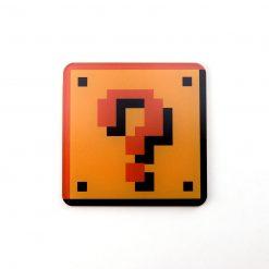 Super Mario Question Block Printed Acrylic Gaming Coaster
