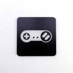 Super Nintendo Entertainment System SNES Controller Printed Acrylic Gaming Coaster